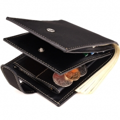Men Wallet Short Paragraph Wallet PU Wallets Student Fashion Personality Coin Purse black one size