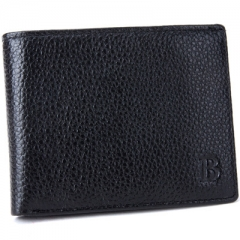 Men Wallet Cowhide Genuine Leather Wallet Coin bag Fashion Personality Wallet black one size