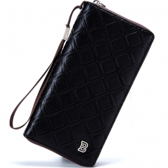 Men Fashion Clutch Long Section Wallet Multifunction Creative Personality Clutch bag black one size