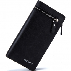 Men Fashion Personality Clutch Long Section Wallet Multifunction Creative Clutch Bag black one size