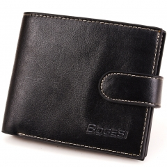 Men Wallet Short Paragraph Wallet PU Wallets Student Fashion Coin Purse black one size