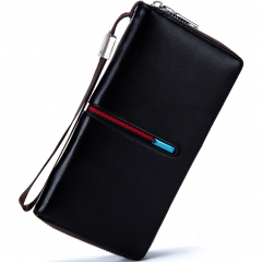Western style Long Section Men Clutch Wallet Multifunction Creative Business Clutch bag black one size