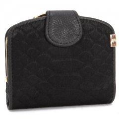 Ms Horse Hair Wallet Long Section Genuine Leather Wallet Female Models Fashion Trend Clutch bag black one size