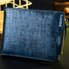 Men personality The New wallet Card package student trend Short paragraph wallet blue one size