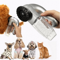 Shed Pal Vac Electric Pet Vacuum Cleaner Clothes Breathing Device Comb Cleaner silver one size