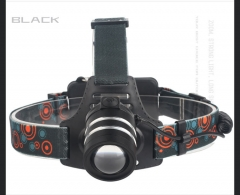 led Outdoor Hunt glare Headlights Rotate Zoom illumination Charge Headlamp black one size