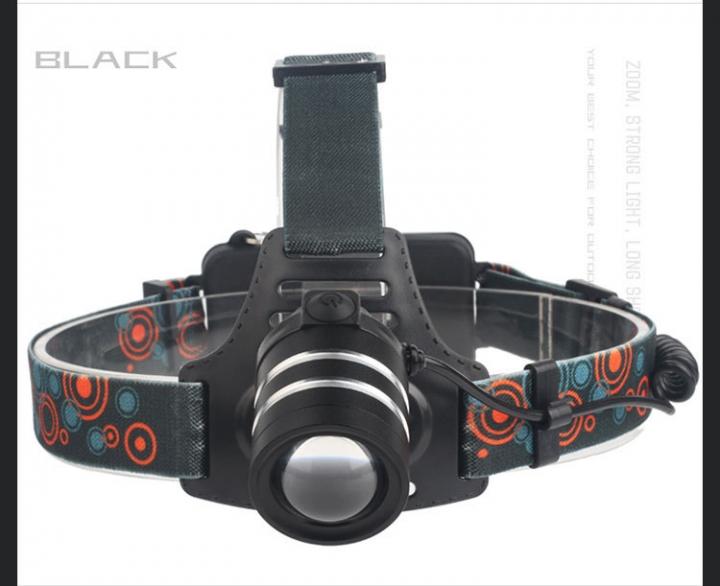led Outdoor Hunt glare Headlights Rotate Zoom illumination Charge Headlamp black one size