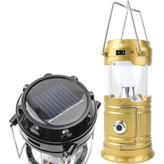Outdoor Camping Lantern Led Lantern Solar Energy Emergency illumination Camping Tent Lights black one size