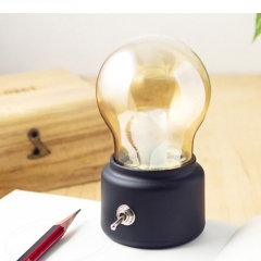 Retro Charge Night light Creative Nostalgia USB Bedside Table lamp Ambient Light black 11cm*7cm*6cm 1.2w