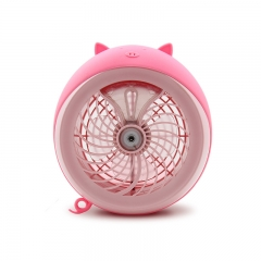 Meng Pet Spray Fan air Conditioning Refrigeration Humidification Student Dorm Room Charge Small fan pink