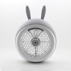 Meng Pet Spray Fan air Conditioning Refrigeration Humidification Student Dorm Room Charge Small fan gray