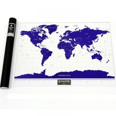 World Edition Scratch map Glow Travel life Map Creative Gift Explore World Map colour one size