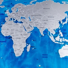 World Scratch Map Ocean Edition Scraping Travel Footprint Map Scratch Map Oceans colour one size