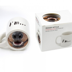 Spoof Funny Dog Nose Porcelain cup Spoof animal pet Mug Coffee Cup dog one size