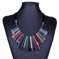 Western Style Fashion Retro Temperament style Geometry Resin Clavicle Necklace color ms