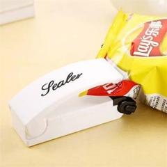 Battery Sealer  Portable Snacks Plastic Bags Sealer Travel Hand Pressure Heat sealing Machine white one size