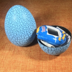 Child Electronic Virtual Pet Machine Cracked egg Tumbler Candy Game Console blue one size