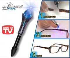 The New 5second fix liquid Plastic 5 Seconds Glue Artifact Ultraviolet Glue black one size