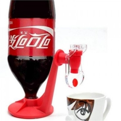 Novelty Soda Dispenser Bottle Coke Upside Down Drinking Water Dispense Machine Home Bar Party Gadget red one size