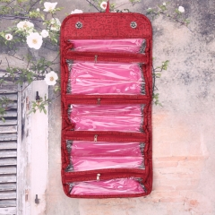 selling products Cosmetic Cosmetic Bag large capacity Multifunctional Storage package red one size