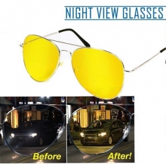 Night View NV Glasses Cut Down Glare From Headlight And Streetlight Yellow Eye Protection yellow one size