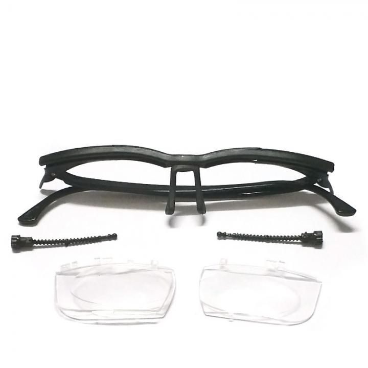 Unisex Men Dial Eye Glasses Adjustable Reading Glasses Vision Reader For Elder Distance black one size
