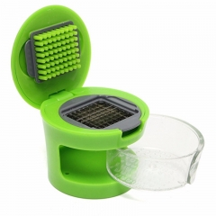 Press Garlic Slicer Presser Chopper Grinder Kitchen Tool GarlicPress Crusher green one size