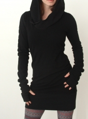 Western Style Ms Fashion Trend Hooded Slim Personality Dress s one size
