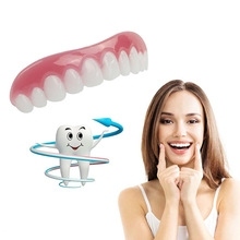 Perfect Instant Smile Comfort Fit Flex Teeth Top Cosmetic Veneer One Size Beauty Accessories red one size