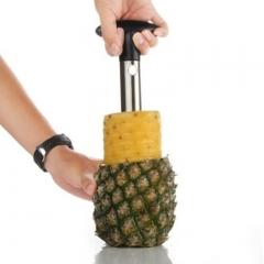 Fruit Pineapple Easy Tool Stainless Steel Corer Slicer Peeler Parer Cutter black one size