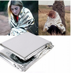 Survival Rescue Insulation Curtain multi-thin lightweight Life-saving Military Silver Blanket Travel silver