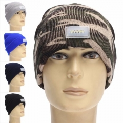Winter Mens 5-LED Light Headlamp Hat Knitted Beanie Cap Hunting Camping Running Random Color one size 0.5w