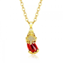 Western Style Ms Popular Accessories 24 gold Plating Brave Troops Necklace Transport luck Pendant red one size