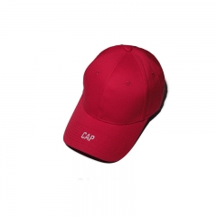 Men And Women Letter Caps Embroidery Fashion Baseball cap trend Sun hat red one size