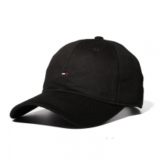 Autumn And Winter Solid Color Baseball cap Fashion Wild Casual hat Lovers hat Men Curved eaves Caps black one size
