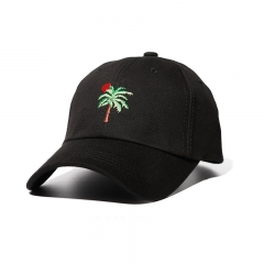 Cotton Baseball cap Men and women Caps embroidery Fashion Personality Sunhat black one size
