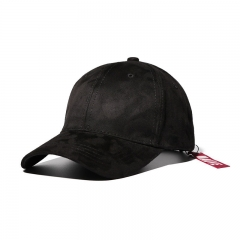 Western Style Retro Solid Color Baseball cap Hip-hop trend men and Women Caps black one size