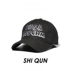 Autumn And Winter Cotton Baseball cap outdoor Movement men and women Embroidery diy hip-hop cap black one size