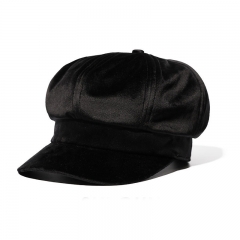 Autumn And Winter Fashion Wild England Sweet lovely Star Anise Bere Hat black one size