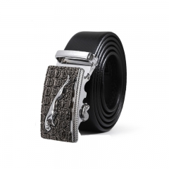 Men Fashion Personality Automatic Buckle Belt Leisure Wild trend Belt black one size