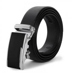 Men Belt Automatic Buckle Business Youth Belt Trend Leisure Student Belt black one size