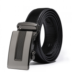 Men Fashion Leisure Automatic Buckle Belt Teens Student Personality Leather Belt black one size