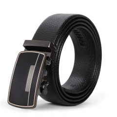 Men Leisure Trend youth Belt Automatic Buckle Business Fashion Personality Belt black one size
