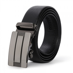Men Fashion High-end Automatic Buckle Belt Youth Alloy Wild Business Leisure belt black one size