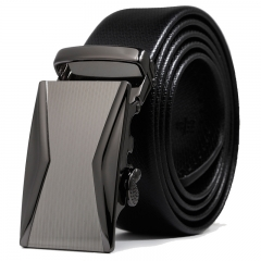 Men Fashion Belt Automatic Buckle Youth Business trend Leisure Belt black one size