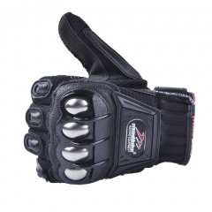 Motorcycle Gloves Alloy Protection Summer Riding Gloves Locomotive Racing Off-road gloves black m