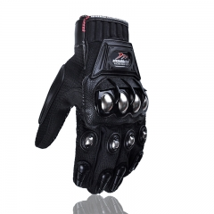 Off-road Motorcycle Gloves Alloy Protection Riding Gloves Racing Electric Car Protection Gloves black m