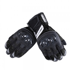 Motorcycle Electric car gloves Waterproof Cold Drop Riders Carbon Fiber Protection Gloves black m