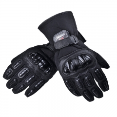 Motorcycle Waterproof Gloves Winter Keep Warm Cold Outdoor Riding Gloves black m