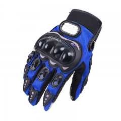 Motorcycle Gloves Outdoor Movement Electric car Racing Touch screen Gloves blue xxl